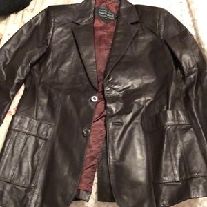 Peter England leather jacket